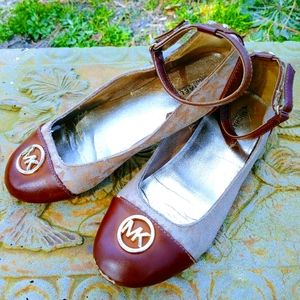 Michael Kors Logo Patent Leather Kid's Flats